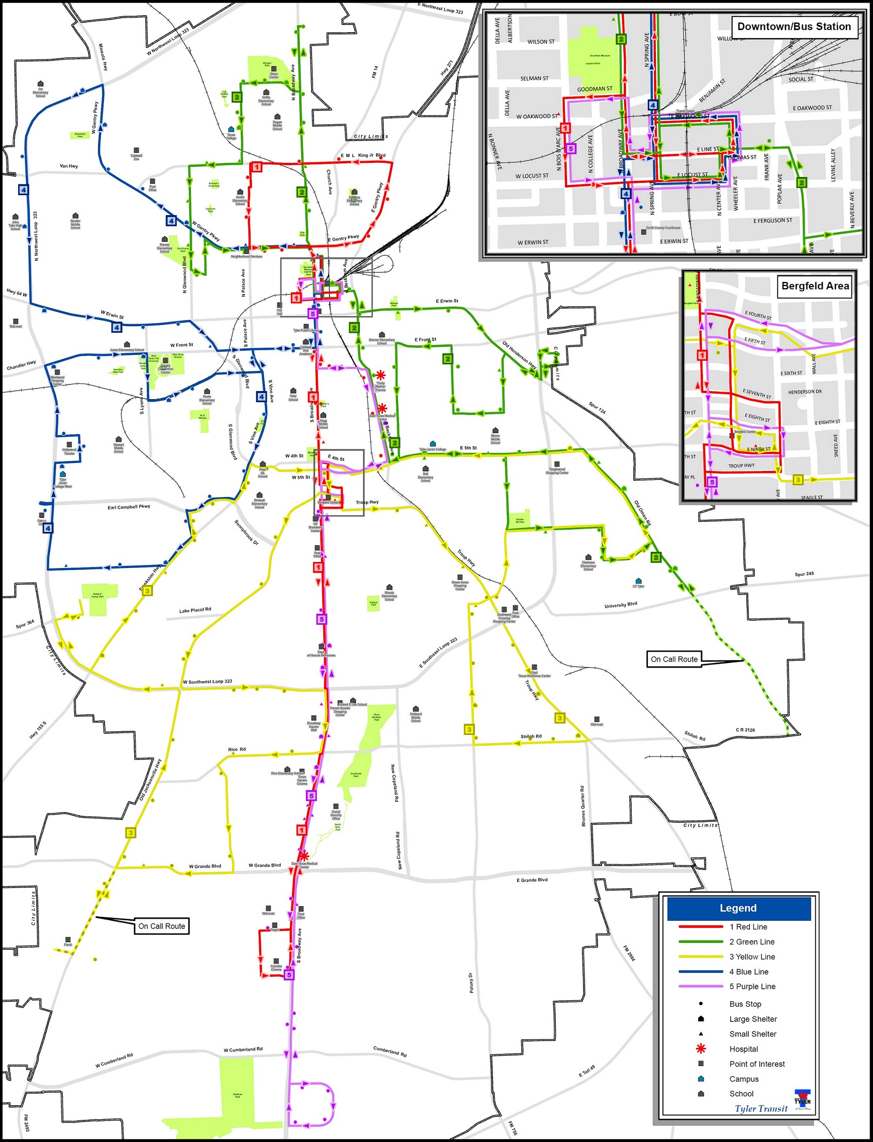Map Of Tyler Texas Map and Schedules | Tyler, TX