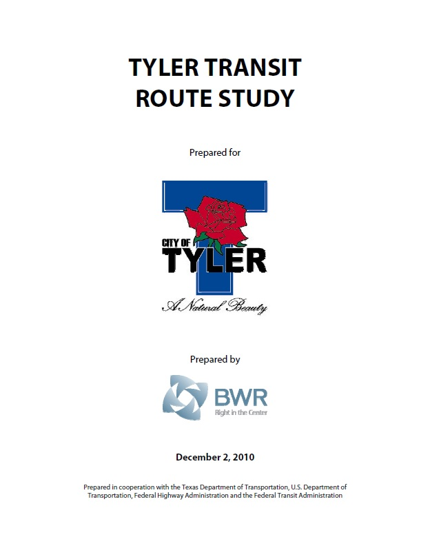 Transit Route Study cover