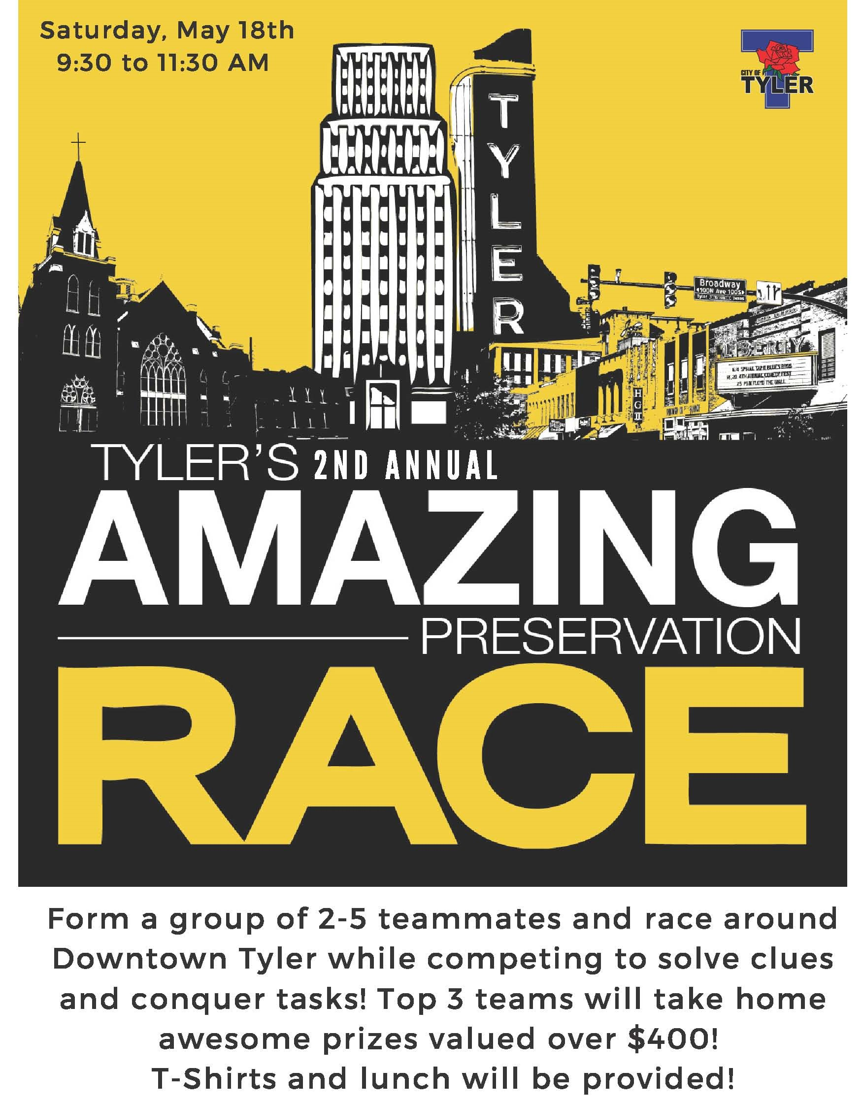 Tyler's Amazing Preservation Race flyer
