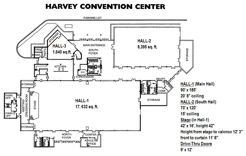 Harvey Convention Center Layout