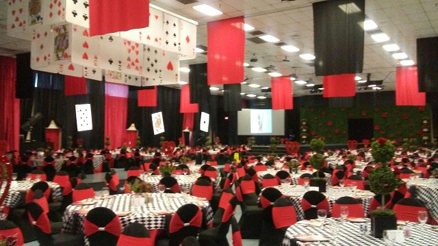 HCC - Hall 1 Banquet with Stage and Stairs