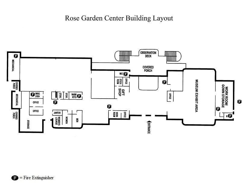 Rose Garden Center Layout - Fire Extinguisher Locations