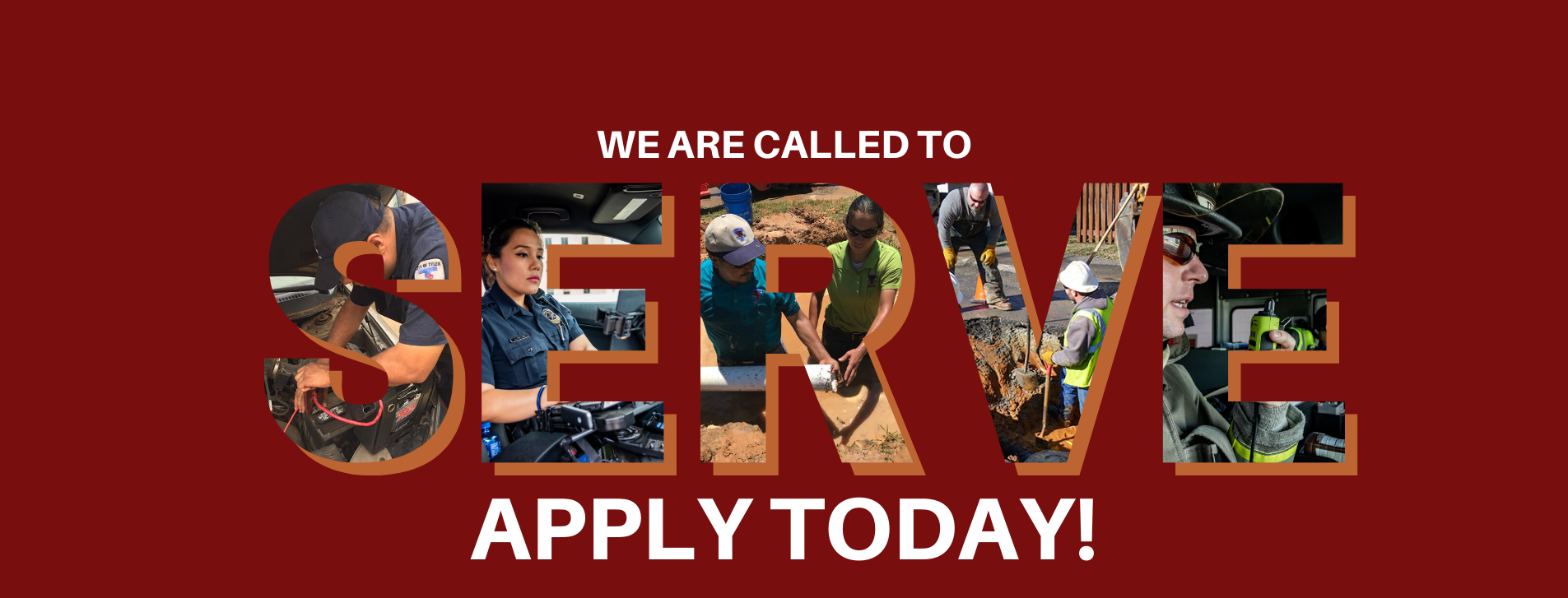 We are called to SERVE! Apply for a job today!