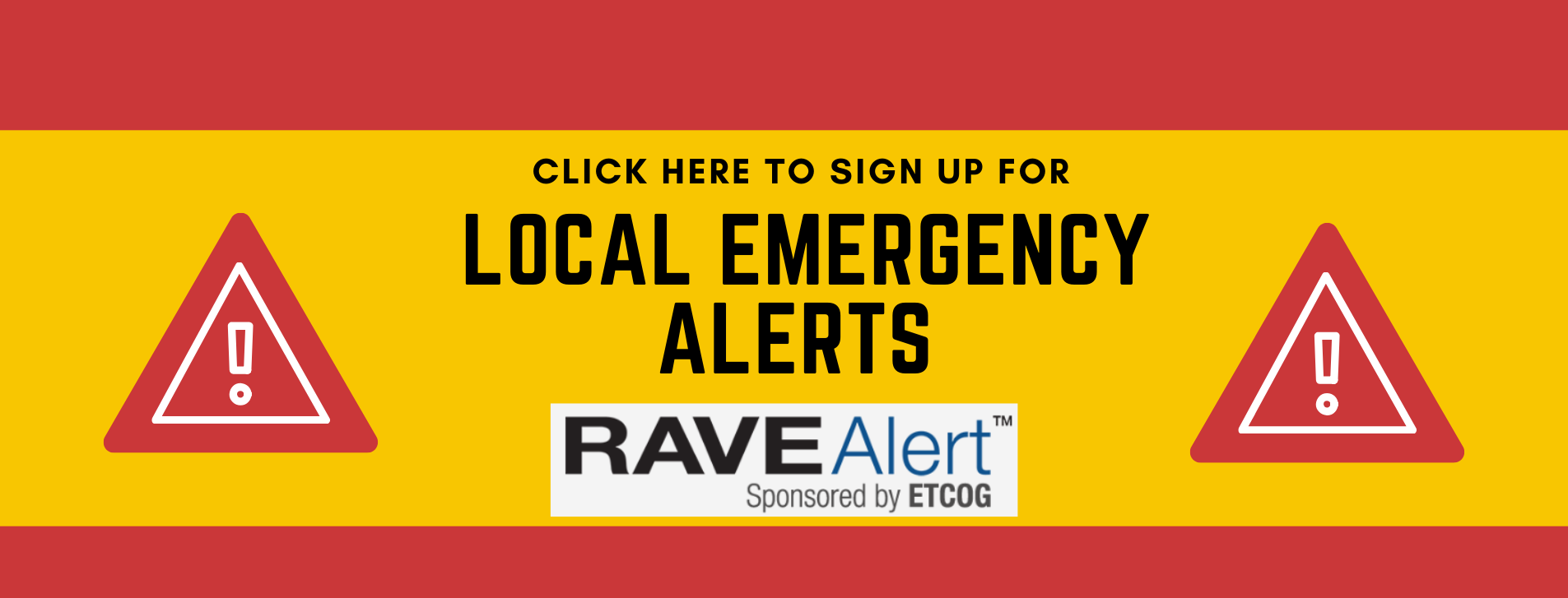 Click here to get local emergency alerts!