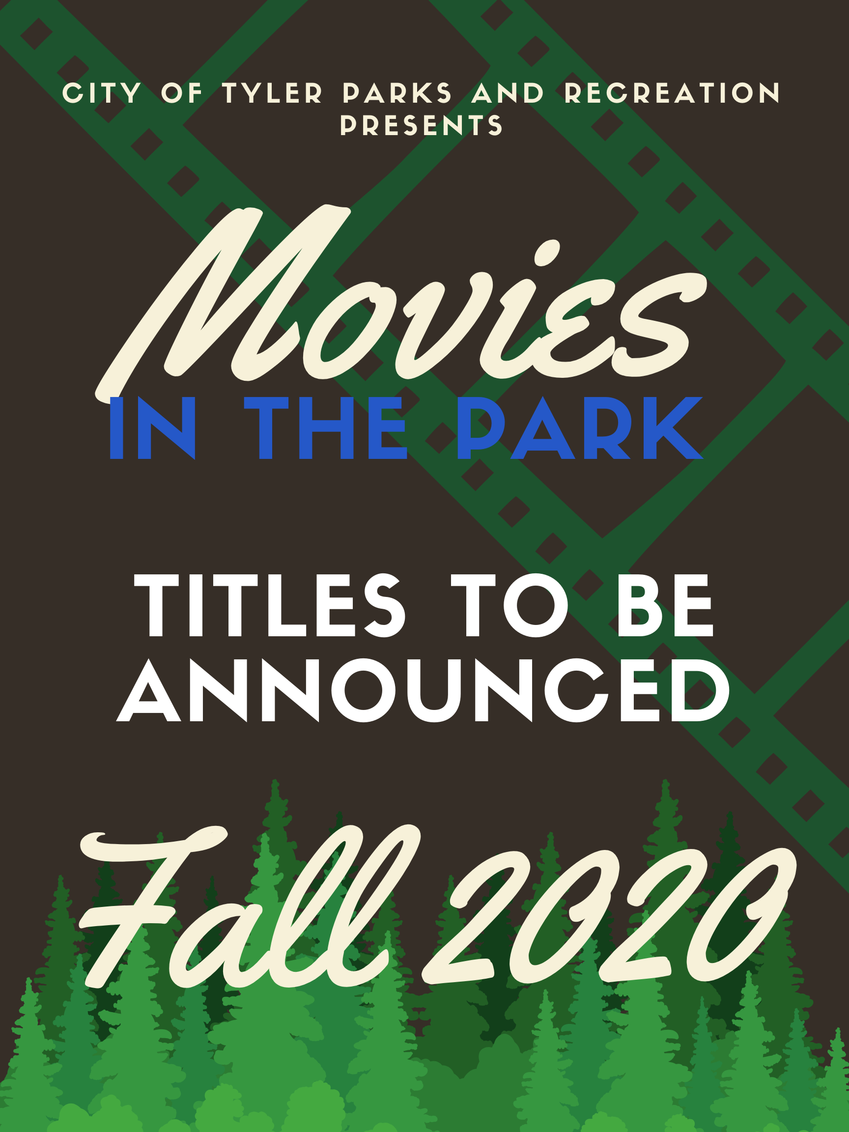 Movies in the Park Poster Fall