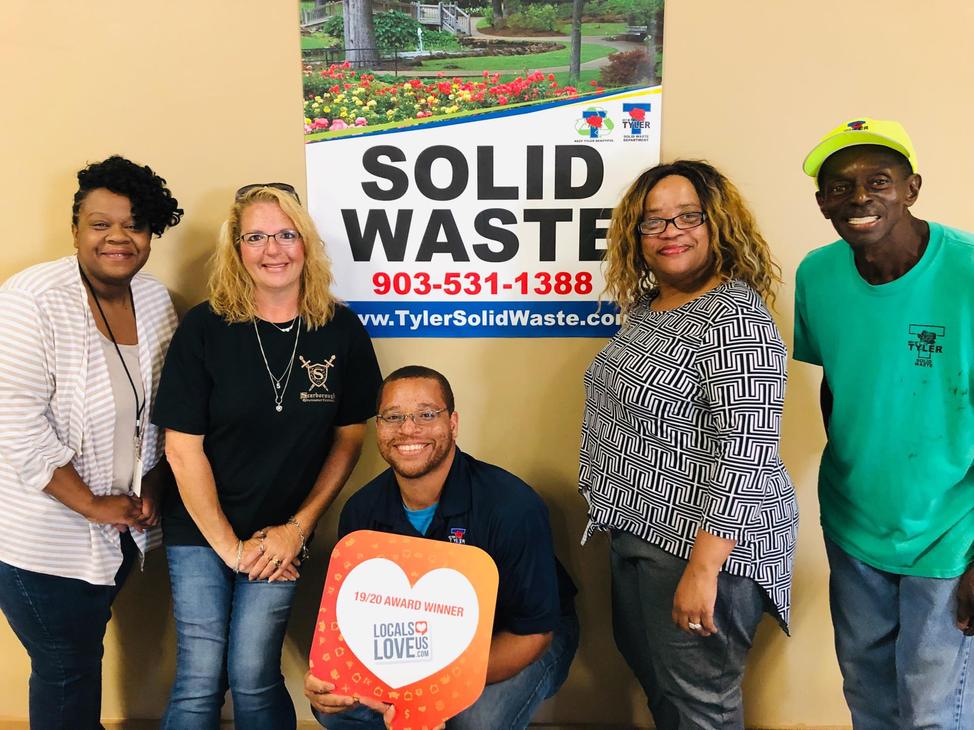 Solid Waste Locals Love Us Award 2019