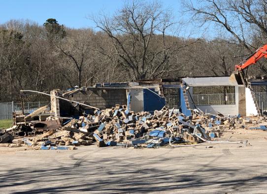 Fun Forest Pool Restrooms Demolition